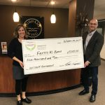 Vorpahl Wing Charities donates $5000.00 to Ferris High School Band!